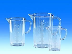 Graduated pitcher, SAN raised scale, 1000 ml